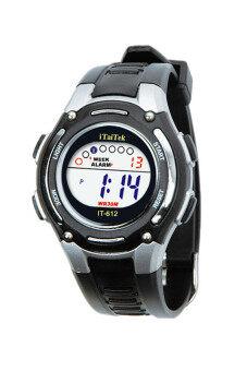 นาฬิกาข้อมือกันน้ำแบบเด็กกีฬา-สีดำ