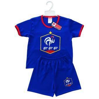 Periquita ไซส์ 1-4 ปี เซ็ต 2 ชิ้น ชุดกีฬาเด็ก ชุดฟุตบอลเด็ก ทีมชาติฝรั่งเศส สีน้ำเงิน