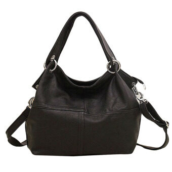 กระเป๋าถือผู้หญิงกระเป๋าหนัง pu ร้อน (สีดำ)