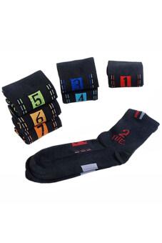 Sanwood ฝ้ายถุงเท้าข้อ 7 เซ็ตคู่ (สีดำ)