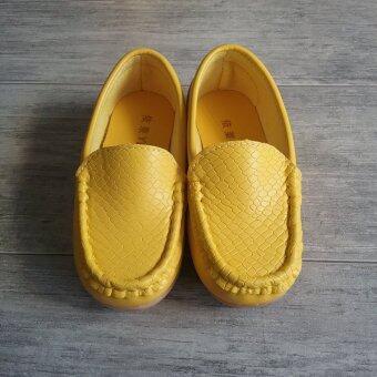 Alice Shoe รองเท้าเด็ก Loafer แฟชั่นเด็กผู้ชาย&เด็กผู้หญิง รุ่น LF001-Y (สีเหลือง)
