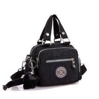 กระเป๋าถือกระเป๋าสะพายกันน้ำเชือกไนลอนเส้นสารสีดำ