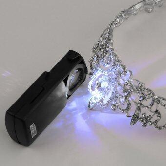 โอพับ 30 x 21มมตาเพชรไฟ led ส่องแว่นขยายประสานเสียงแตรแก้วเลนส์
