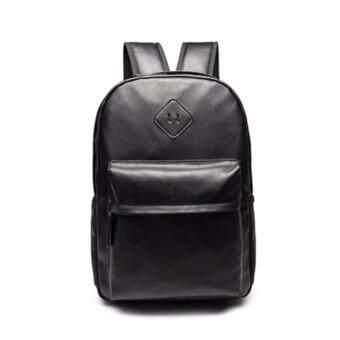 stmartshopกระเป๋าเป้สะพายหลังหนัง กระเป๋านักเรียนกระเป๋าคอมพิวเตอร์ รุ่น stm6512 (สีดำ)