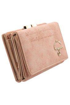 Sanwood กระเป๋าสตางค์หนังเทียม (สีชมพู)