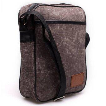 DMกระเป๋าสะพายข้างJean canvas KCAJ II (สีน้ำตาล)