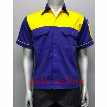 เสื้อเชิ้ตทำงาน เสื้อช่าง เสื้อช็อป Size M รอบอก 42 นิ้ว