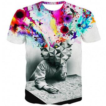ความคิดของผู้ชายการพิมพ์ Hequ สบายเอาเสื้อยืด (หลายสี)-ระหว่างประเทศ