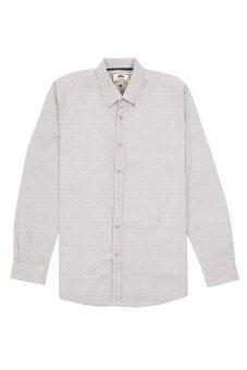 shirtoria เสื้อเชิ้ตแขนยาวลายจุด สีขาว