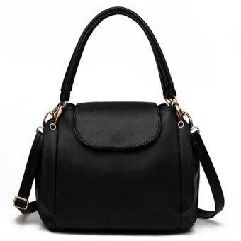 Little Bag กระเป๋าถือ กระเป๋าแฟชั่น กระเป๋าสะพายพาดลำตัว รุ่น LB-064 (สีดำ)