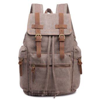 Harga Current Leisure Man Fashion Bag Shoulder Computer Backpack Europe Retro (Coffee-80-0.9) - intl