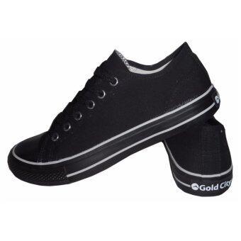 Gold city รองเท้าผ้าใบ GC1207 สีดำขาว