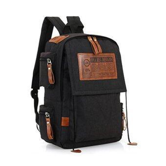 Marverlous กระเป๋าเป้สะพายหลัง กระเป๋าเป้เกาหลี Multi-กระเป๋า Backpack No.6043-Black