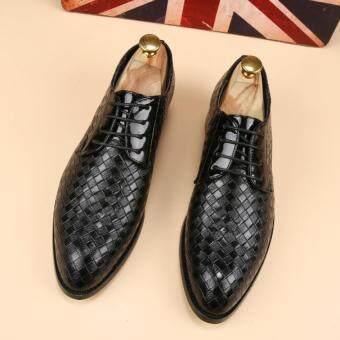หรูหราหนังแท้รองเท้าลำลองสุขาธุรกิจรองเท้าแฟลตแต่งตัวเนี้ยบตามระเบียบพรรคบุรุษออกซฟอร์ด