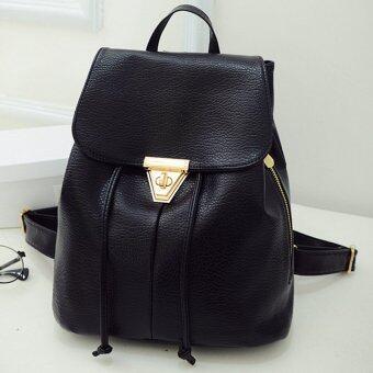 Little Bag กระเป๋าสะพายหลัง กระเป๋าเป้ กระเป๋าแฟชั่นผู้หญิง รุ่น LP-027 (สีดำ)