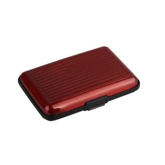 Daisi1แถม1 กระเป๋าอลูมิเนียม กันน้ำ ใส่บัตรเครดิตการ์ด กระเป๋าตัง กระเป๋าใส่นามบัตรDaisi0070-redแดง