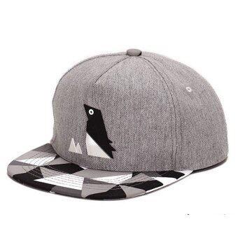 เพนกวินรูปแบบฮิปฮอปสวมหมวกเบสบอลผ้าผูกปรับได้สำหรับบุรุษ และสตรี