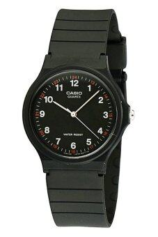 Casio Standard นาฬิกาข้อมือผู้ชาย สีดำ สายเรซิ่น MQ-24-1BLDF