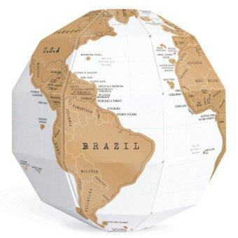Harga DIY 3D Scratch Globe Foil World Map World Atlas (White)