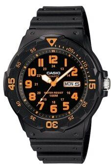 Casio Standard นาฬิกาข้อมือผู้ชาย สายเรซิ่น รุ่น MRW-200H-4BVDF - สีดำ