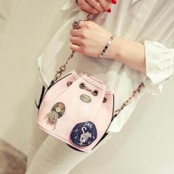 Bag Fashion กระเป๋าสะพายข้างแฟชั่น ทรงขนมจีบสายโซ่ถัก(สีชมพู) รุ่นjpg (image 1)
