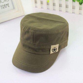 หมวกแก๊ปทรงทหาร (สีเขียว)