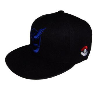medius Japanese SNAPBACK Cap หมวกแฟชั่น Pokemon Go Team Valor, Team Mystic, Team Instinct หมวกสีดำ เครื่องหมายทีม สีแดง, สีน้ำเงิน, สีเหลือง
