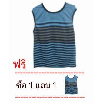 Assign เสื้อกล้ามผู้ชาย ผ้าพื้นเทาพิมพ์ลาย สีผ้าพิมพ์