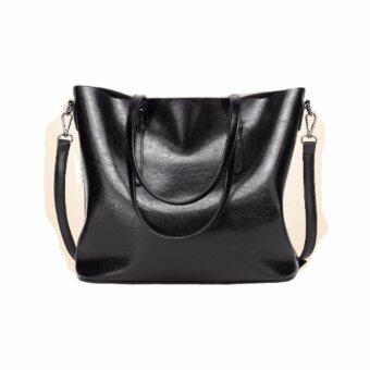 Stmartshop กระเป๋าสะพายข้างหนังใหม่ Messenger Style Bag รุ่น st999 (สีดำ)