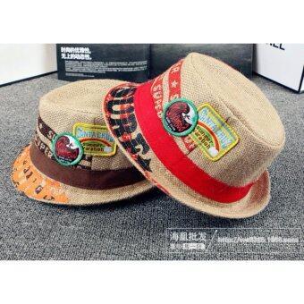 d2kids หมวกคาวบอยเด็กชายสไตล์เกาหลี (สีน้ำตาล)