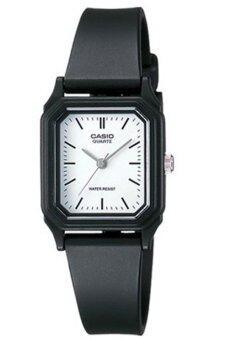 Casio นาฬิกาข้อมือผู้หญิง รุ่น LQ-142-7EDF - สีดำ/หน้าขาว