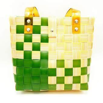 กระเป๋าสาน สะพายข้าง แฟชั่น แฮนด์เมด รุ่น BHM001
