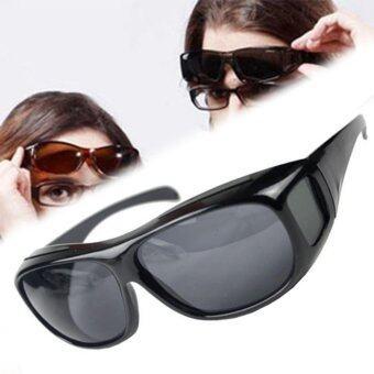 แว่นตาขับรถ ป้องกันลม กันฝุ่น กันแดด (สีดำ)