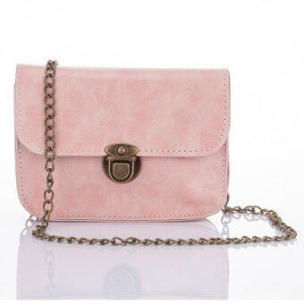 Premium Bag กระเป๋าแฟชั่น กระเป๋าสะพายข้าง รุ่น PB-003 (สีชมพู)