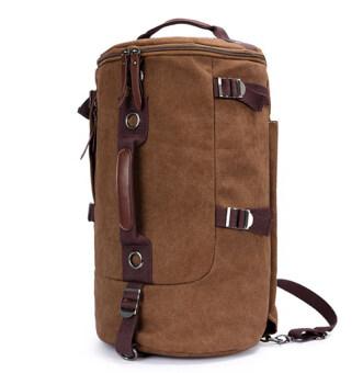 Keystone กระเป๋าเป้ Canvas แนว Retro Casual & Sport สีน้ำตาล