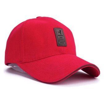 นิวแฟชั่นหมวกเบสบอลกีฬา 2559 เพศ Snapback กอล์ฟหมวกแข็ง ๆ กลางแจ้งสำหรับคนกระดูก (สีแดง)