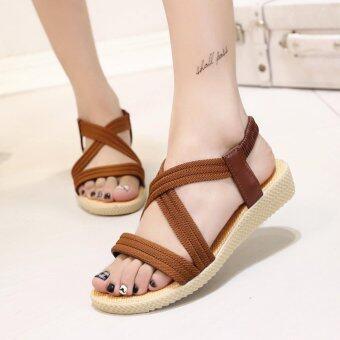 ขาย Women Summer Flat Sandals Shoes Open Toe Beach Flip Flops Slipper Sandal-brown – intl จากแบรนด์ Unbranded/Generic ราคาถูก