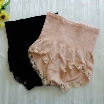 Munafie กางเกงในกระชับสัดส่วน กางเกงในเก็บพุง (สีเนื้อ+สีดำ) - 2 ตัว