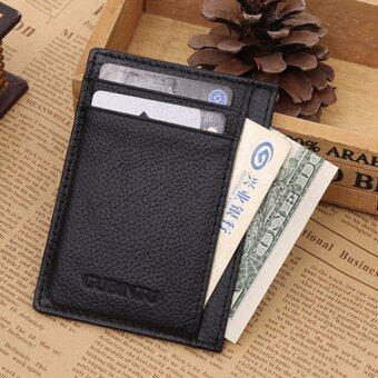 MATTEO กระเป๋าเงินผู้ชาย กระเป๋าสตางค์แบบบาง GUBINTU 1262 - Black สีดำ