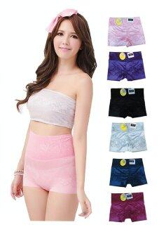 meihua shop Solara underpant กางเกงใน เส้นไหม แพ็ต 6 ชิ้น (สี ดำ น้ำเงิน ม่วง บานเย็น ฟ้า ชมพู)