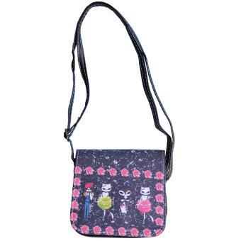 Peimm Modello Pretty Cat กระเป๋าสะพาย แฟชั่นเกาหลี (สีดำ)