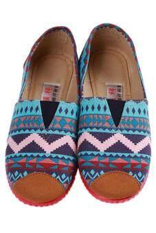 แฟชั่นรองเท้าผ้าใบแห่งหญ้าคารองเท้าผ้าใบสไตล์ลำลองสีน้ำเงิน