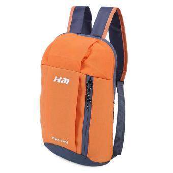 Harga Guapabien Water Resistant Lightweight Patchwork Bucket Shape Backpack Unisex Portable Bag(Orange) - intl