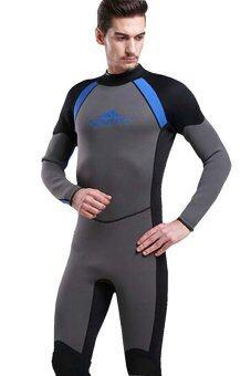 3มมยางเทียมชุดว่ายน้ำฤดูร้อนคนดำน้ำสนอร์เกิลโดดสูทชุดว่ายน้ำ-สีเทา