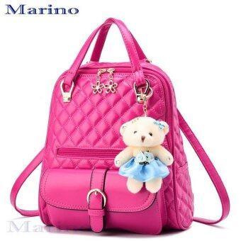 Marino กระเป๋า กระเป๋าสะพาย กระเป๋าเป้สะพายหลัง No.1110 - Pink
