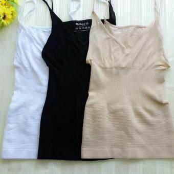 MUNAFIE slimming vest เสื้อกระชับสัดส่วน เก็บส่วนเกิน (สีดำ+สีเนื้อ+สีขาว) - 3 ตัว
