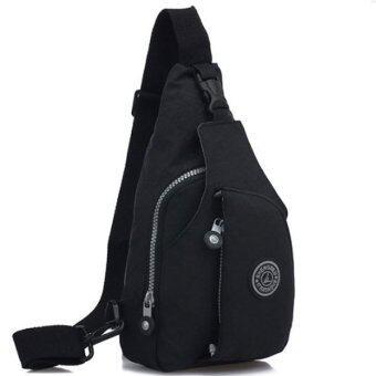 RICHCOCO กระเป๋าเป้ สายเดี่ยว Nylon leisure Backpack K03_02-Black