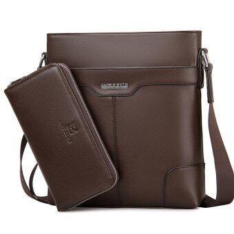 ไหล่ของคนส่งสารแฟชั่นกระเป๋าแฟชั่นกระเป๋าสะพายแนวธุรกิจสบาย ๆ กระเป๋าตาย (สีน้ำตาลขนาดใหญ่)