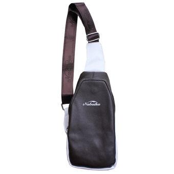 Peimm Modello กระเป๋าสะพายพาดลำตัว กระเป๋าคาดอก กันน้ำ สไตส์เกาหลี (สีน้ำตาลเข้ม)