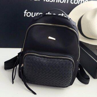 Little Bag กระเป๋าเป้สะพายหลัง กระเป๋าเป้เกาหลี กระเป๋าสะพายหลังผู้หญิง backpack women รุ่น LP-129 (สีดำ)